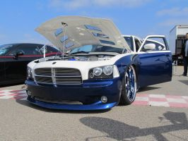 Blue and White Charger by KateKannibal