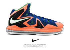 Nike Lebron X Elite 'Salmon' by BBoyKai91