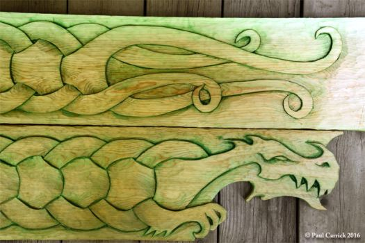 Dragon themed house trim (detail) by nightserpent