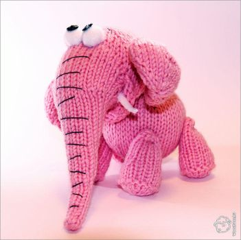 Pink Elephant by wooltoys-ru
