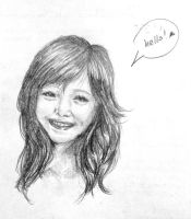 Sketch of Smiling Girl by aiken-L
