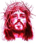 jesus christ in RED by ichadkibo