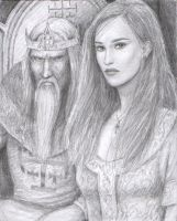 King Fulk and Queen Melisende by dashinvaine