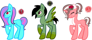 Pony Adoptables 10 [ OPEN ] by Royalty-Adopts