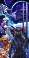 Drowtales Space Age banner by blackmyst