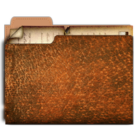Steampunk Folder Icon with documents by pendragon1966