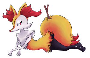 Braixen! by Hallucination-Walker