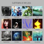 Summary of Art 2013 by Ah-NEE-koh