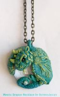 Mystic Dragon Necklace by Skyelark