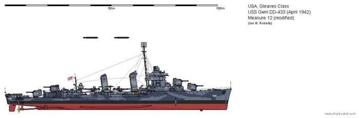 USS Gwin DD-433 (April 1942) - Measure 12 mod by ColosseumSB