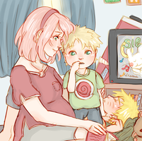 Naruto AU - Little one on the way by Kirabook