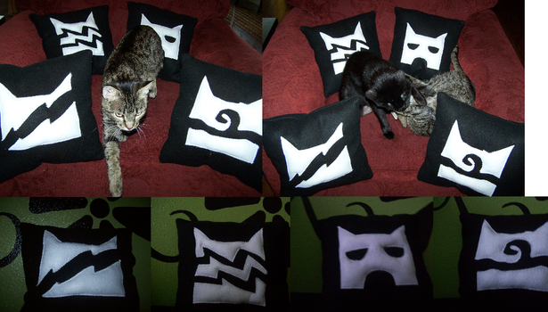 xx Clan Pillows by TheMoonfall
