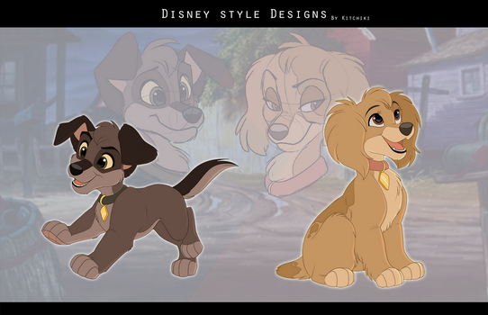 Disney Pup Adoptables by Kitchiki