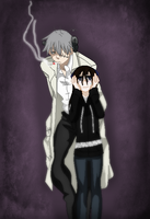 Soul Eater-Lacie Got Caught Wearing His Glasses by TFAfangirl14