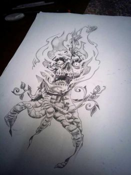 seen it out of a tattoo book and wanted to draw it by Wallace21