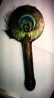 Peacock Feather Mirror by SpawnedImages
