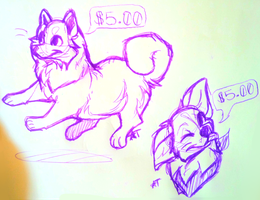 $5.00 sketches pt.1 by BabyWolverines