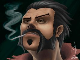 Graves lol Face by Dectroh
