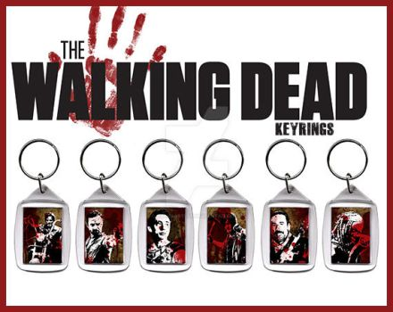 Unique Walking Dead KeyRings by GandiArtist
