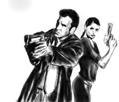 Max Payne and Mona Sax by CrisM1A1