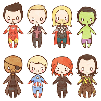 AVENGERS, KAWAII by xlolfishx