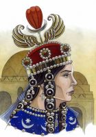 Boran/Pourandokht-queen of the Sassanid Persia. by AMELIANVS