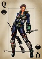 Queen of Spades by invikdeviant