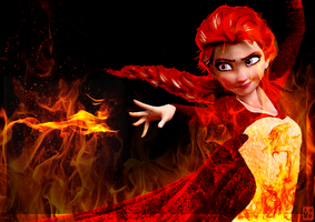 Fire Elsa by Miss-Ellanius