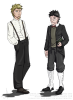 Character Concepts: Austin and Owen by MoonstalkerWerewolf