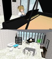 MMD lounge piano + DL by nekovampire95