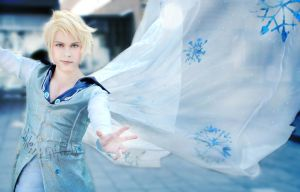 Elsa (Male Version Genderbend), Disney's Frozen by hakucosplay