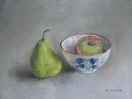 Pear Apple and Rice Bowl by birchley
