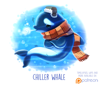 Daily Paint 1507. Chiller Whale by Cryptid-Creations