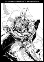 Savage Dragon by caananwhite