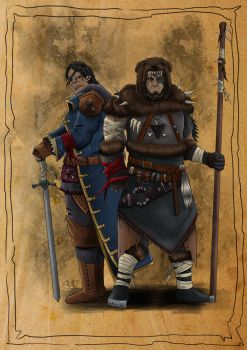 Orc Brothers by SilkyNoire