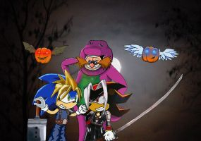 Sonic Halloween by f3ng