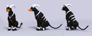 Houndoom 02 by leo3dmodels