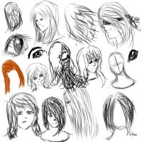 Sketches for today [ 8/6/13 ] by RainingKnote