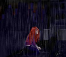 Even the sky is crying. by loriofpandora