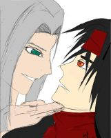 Sephiroth x Vincent by VIIIFireLordAxel