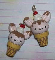 Bunny Icecream Cones by kneazlegurl125
