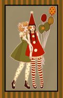 clown girls by DarkDevi