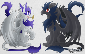 Redesigned Cursed Tails: The Griffins by SoftMonKeychains