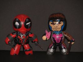 Deadpool and gambit by laz69frog