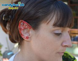 Red and Copper Evil Eye Elf Ears 002 by Dabstar
