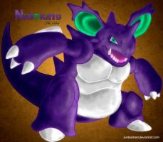 Pokemon -034 Nidoking- by Junleashed