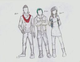 yayyy korra and the other 2 guys by EnergyBender