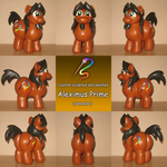 Alex the Chubby Pony custom 2.0 (commission) by AleximusPrime