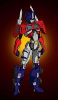 Gender Swap: Optimus Prime by EmeraldBeacon