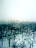 snow outside of my window by benedith-y-mamau